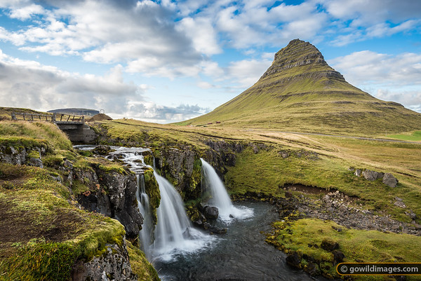 The beautifull Kirkjufell peak and falls. Enjoy the wild Black Crowberries in the area if you're there in Autumn!
