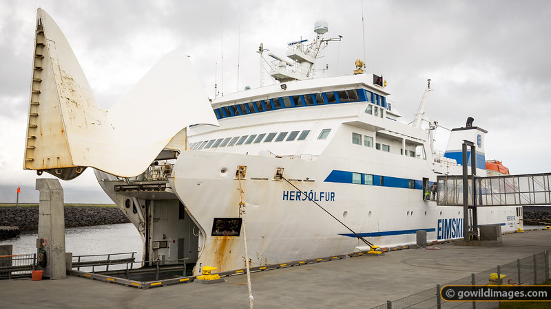 The ferry from Landeyahofn to Heimaey, a 45min trip.