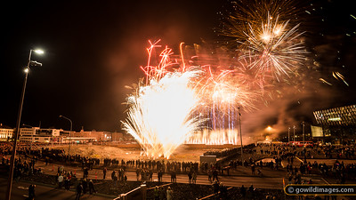 Over 100,000 people attended the Menningarnótt (Culture Night) festival which closed with fireworks beside Harpa