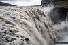 Dettifoss, the 'most powerful' falls in Europe. This river, Jokulsa a Fjollum, could see massive flooding if the Barðabunga volcano erupts and melts through the 700-900m of glacial ice above it.