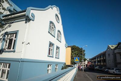 The suburban edge of central Reykjavik