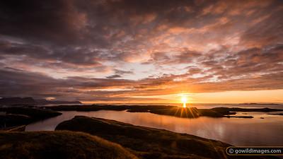 Sunset over Breiðafjörður