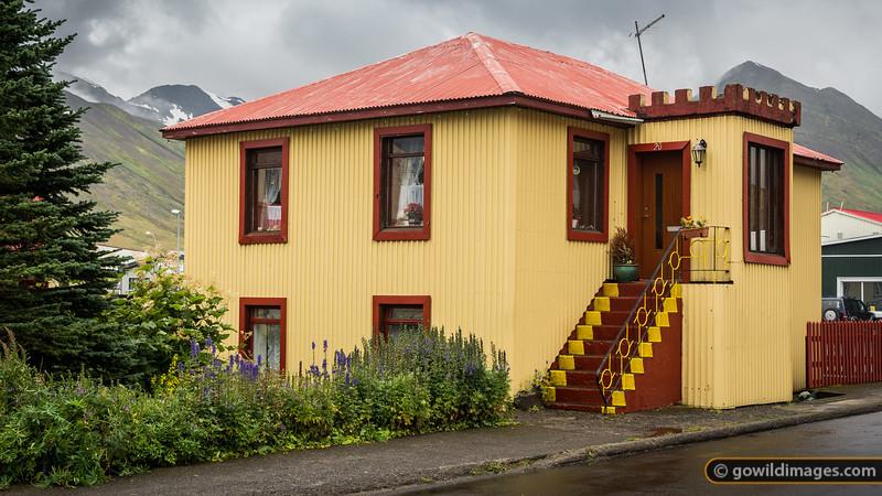 Colourful painted house in Siglufjörður