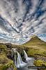 The beautifull Kirkjufell peak and falls