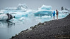 Jökulsárlón's floating icebergs. After thousands of years trapped in a glacier, they slowly head out into the Atlantic Ocean.
