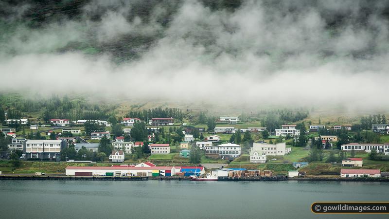 The fishing town of Fáskrúðsfjörður