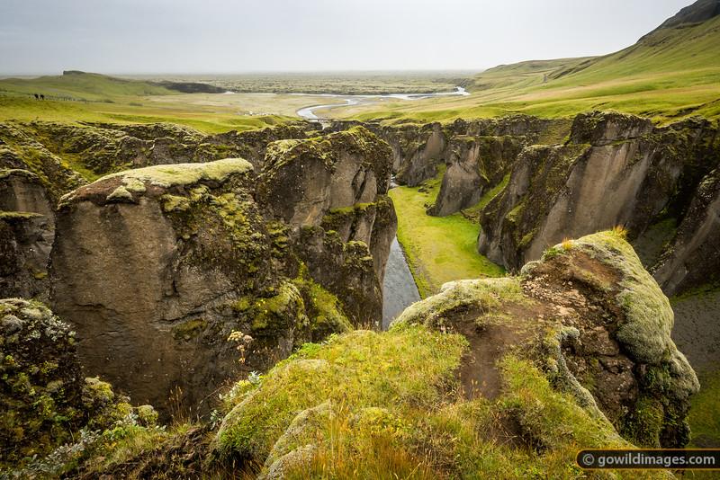 The accessible Fjaðrárgljúfur Canyon near Kirkjubæjarklaustur