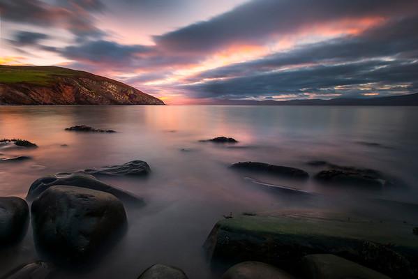 Sunrise At Minard Castle, County Kerry, Dingle Peninsula, Ireland