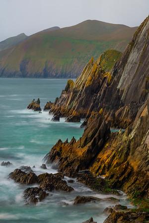 The Geologic Formations Coastline - The Dingle Peninsula, County Kerry, Ireland