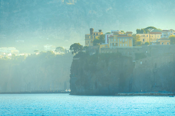 Clifftop Hotels In Sorrento In Morning Light Sorrento, Italy