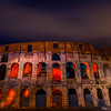 The Iconic Coliseum At Night - Rome, Italy