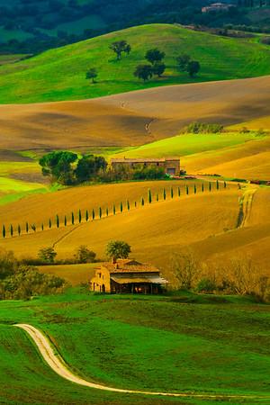 Brilliant Colors Of Tuscany - Val d'Orcia Region, Tuscany, Italy