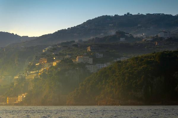 Morning Light On The Sorrento Coastline Sorrento, Italy