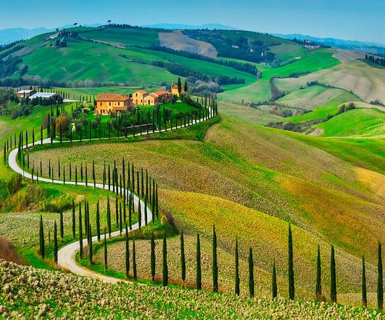 The Winding Road - Val d'Orcia Region, Tuscany, Italy