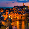 The Town By Night - Cinque Terre, Italian Rivera Italy