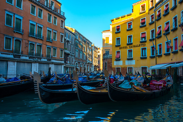 Lined Up For A Hard Days Work - Venice, Italy