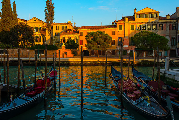 Framed By The Iconic Gondolas Of Venice - Venice, Italy