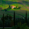 Framed With Tuscan Cypress Trees - Val d'Orcia Region, Tuscany, Italy