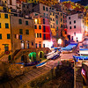 The Coastline Night Look Of The Italian Rivera - Cinque Terre, Italian Riveria, Italy