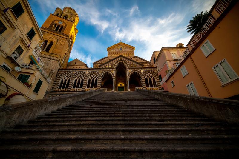 Long Walk Up The Church Of Amalfi