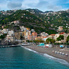A Look At The Beachfront Of Minori - Minori, Amalfi Coast, Bay Of Naples, Italy