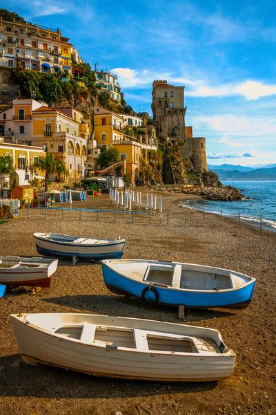 Hanging Out On The Cetara Beach - Cetara, Amalfi Coast, Bay Of Naples, Campania, Italy