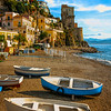 Hanging Out On The Cetara Beach - Cetara, Amalfi Coast, Bay Of Naples, Campania, Italy