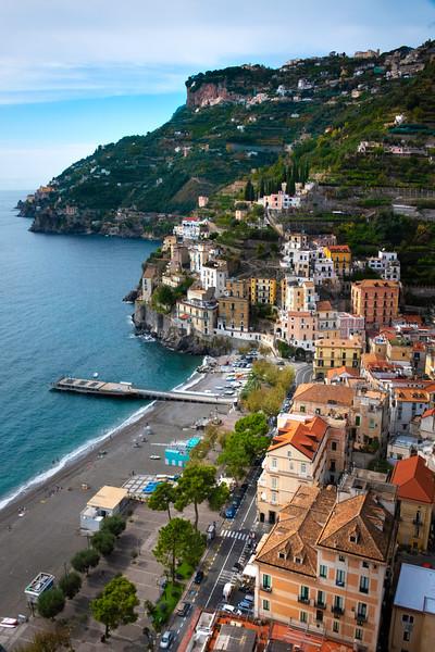 Windy Roads Of Amalfi Coast - Cetara, Amalfi Coast, Bay Of Naples, Campania, Italy