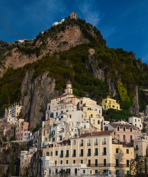 The Cliffside Buildings Of Amalfi