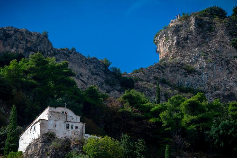 The Old Monastry Perched On The Cliff - Atrani, Amalfi Coast, Campania, Bay Of Naples, Italy