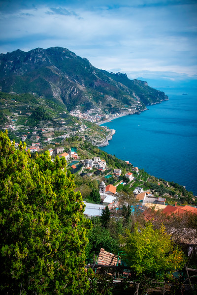 Looking Down The Amalfi Coast From Ravello - Ravello, Amalfi Coast, Campania, Italy