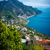 Looking Down The Amalfi Coast From Ravello - Ravello, Amalfi Coast, Campania, Italy