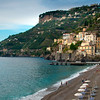The Town Of Minori And Its Beach - Minori, Amalfi Coast, Bay Of Naples, Italy