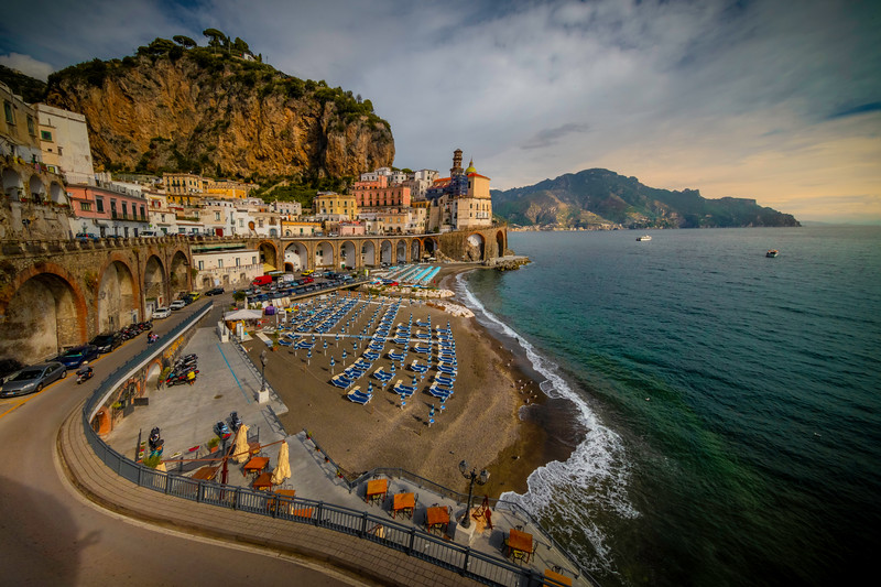 A Wider Look At The Town Of Atrani - Atrani, Amalfi Coast, Campania, Bay Of Naples, Italy