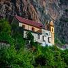 A Church All By Itself Hanging On The Walls Of Atrani - Atrani, Amalfi Coast, Campania, Bay Of Naples, Italy