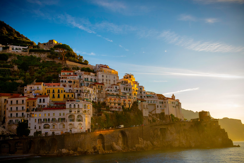 Hazy Morning Light On The Edge Of Amalfi