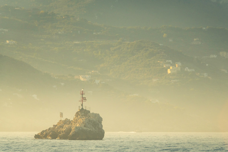 Early Morning Mist Off The Island Of Capri Sorrento, Italy