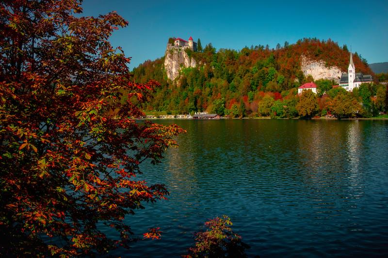 Framed In Autumn Deligh - Lake Bled, Bled, Slovenia