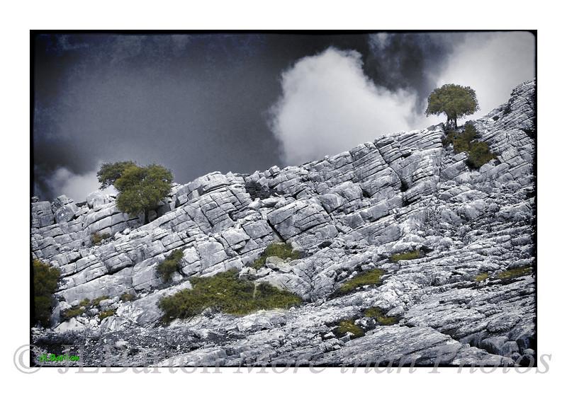 The Ronda Mountains Weathered Limestone gives striking scenery