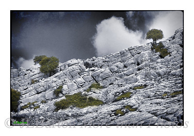 The Ronda Mountains Weathered Limestone gives striking scenery