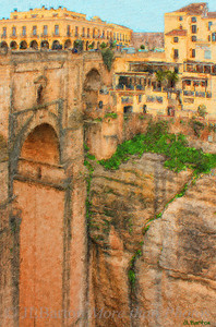 The Chasm At Ronda, separating the old town from the newer town