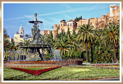 Three Graces Fountain Downtown Malaga