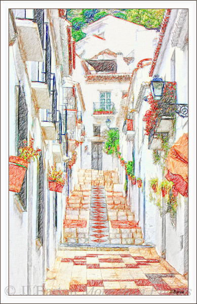 Steep Streets in Mijas