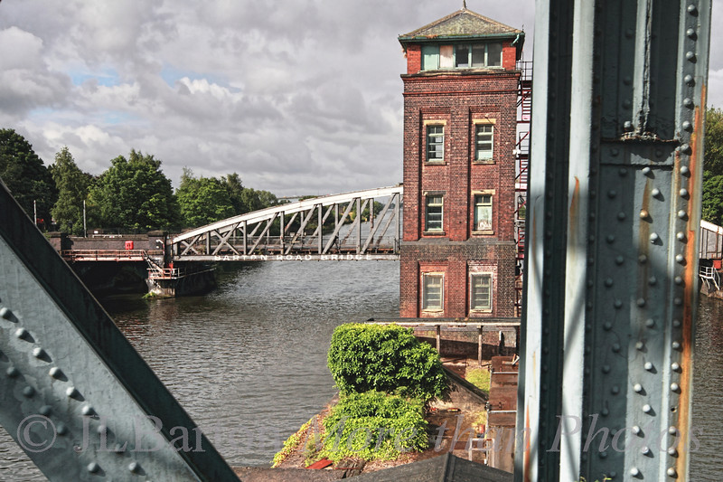 The Barton Swing Aqueduct and the Barton Swing Bridge over the Manchester Shipping Canal