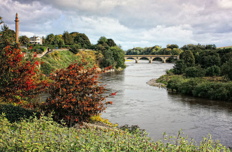 """The River Tweed 2010-10-16  On the left is Scotland - specifically the town of Coldstream.  On the right is England.  For a few hundred years (until 1856), Coldstream was just a popular as Gretna Green for """"marriages without prior notice"""" [my wife informs me that all readers of English romance literature will know these names].  It is also the home of the Coldstream Guards, the oldest regiment in the British Regular Army.  A small town, but very nice, friendly, and wonderful landscapes.  Thanks to all who commented on my Falkirk Wheel pictures.  Very appreciated as always."""