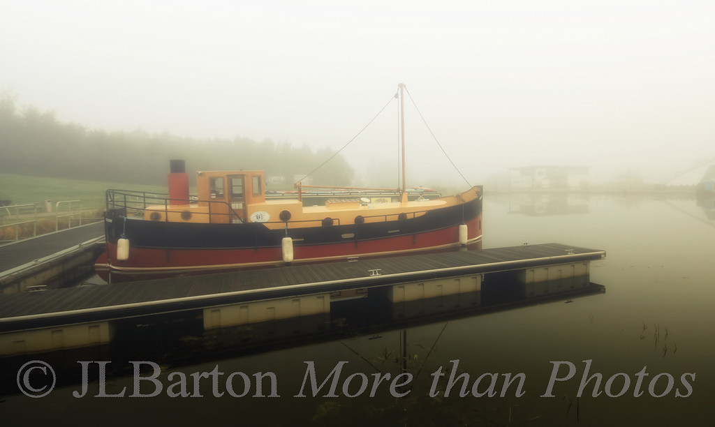 Foggy Morning in Falkirk, Scotland.  We had to wait for the fog to lift before starting our day.