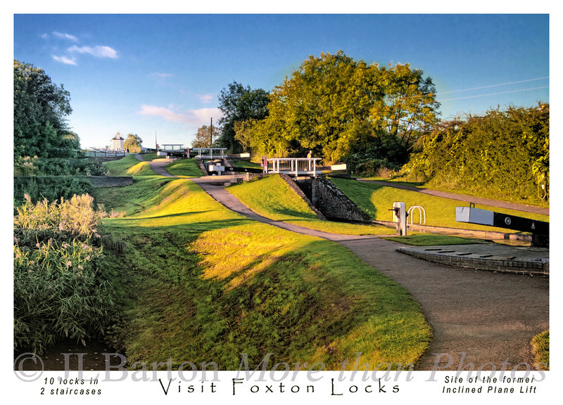 Foxton Locks Postcard