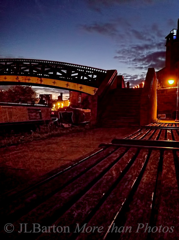 Evening in Manchester Moored at the Castlefield moorings Photo courtesy of MarthaJeanne