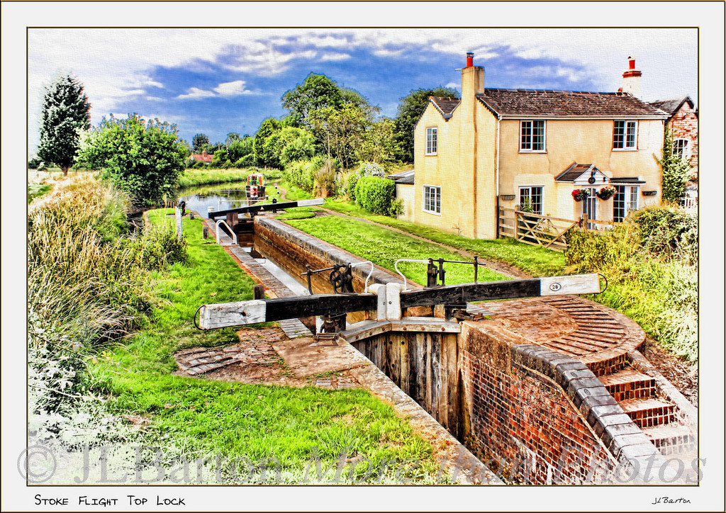 Top Lock, Stoke Flight Worcester and Birmingham Canal This picture was the Editors Pick for Photo of the Week, 15 September 2009 (www.officialpspp.com)