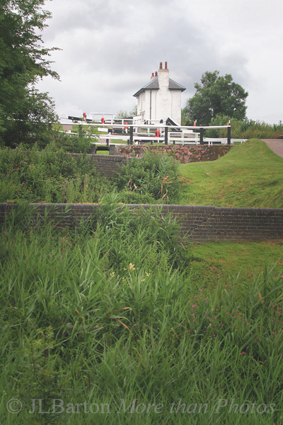 Foxton Locks - each lock has its own pond, so water is recycled instead of all going downhill.